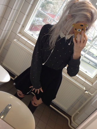 blouse cute grey gray sparkle pearl kawaii pale kawaii dark soft grunge kawaii grunge pale grunge lovely cute blouse adorable outfit adorable blouse
