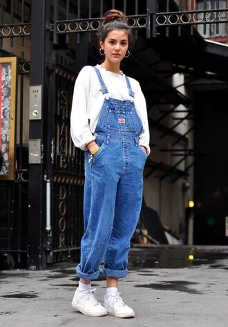 jeans dungarees old school light blue