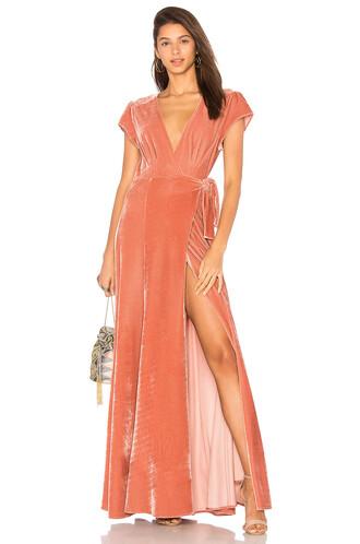 dress wrap dress rose