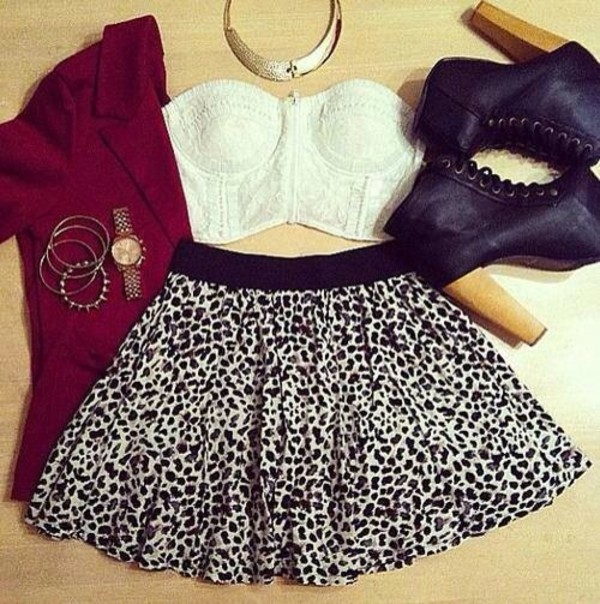 tank top jacket skirt shoes sweater top