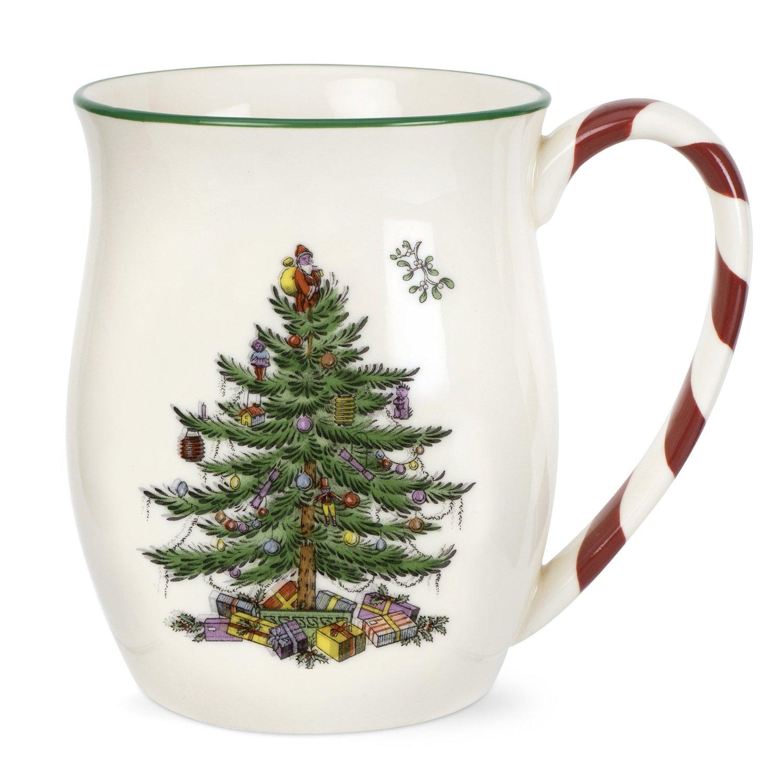 amazoncom spode christmas tree candy cane mugs set of 4 spode christmas tree china kitchen dining - Amazon Christmas Tree