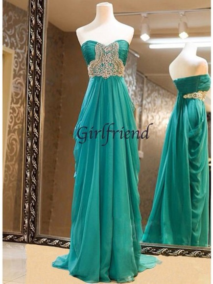 dress prom dress teal beading beautiful details silver glitter green dress perfecto