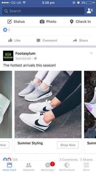 shoes nike sneakers white sneakers grey sneakers nike cortez air max nike low top sneakers