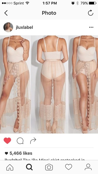 skirt sheer sexy cover up nude