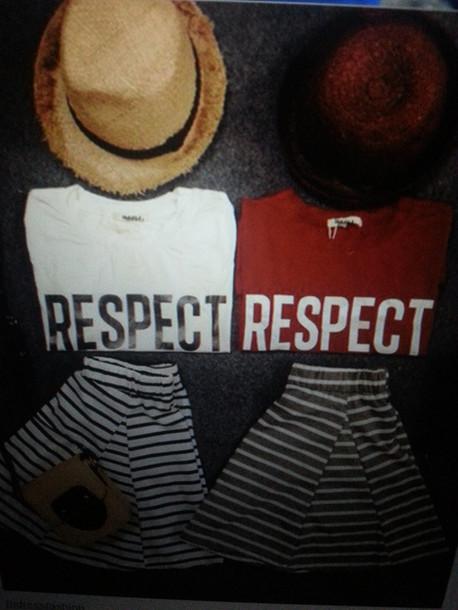 skirt shirt respect hat purse matching set