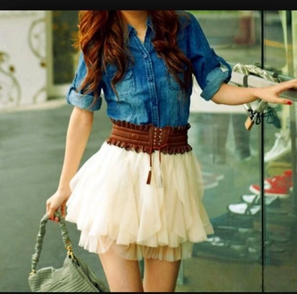 dress belt skirt shirt