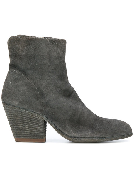 OFFICINE CREATIVE women leather grey shoes