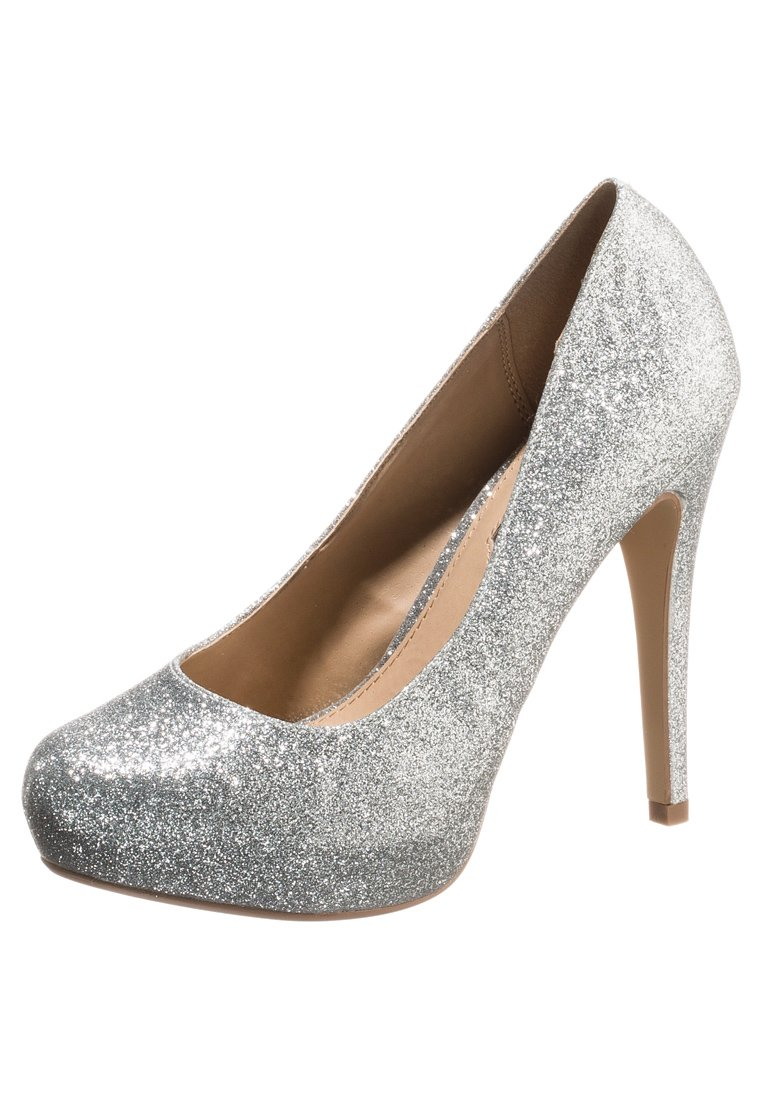 dorothy perkins fizzy high heel pumps silver glitter. Black Bedroom Furniture Sets. Home Design Ideas