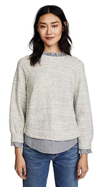 La Vie Rebecca Taylor pullover grey sweater