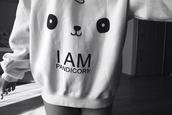 sweater,panda,cute,girly,black,white,swag,cool,black and white,kawaii,unicorn,pandicorn