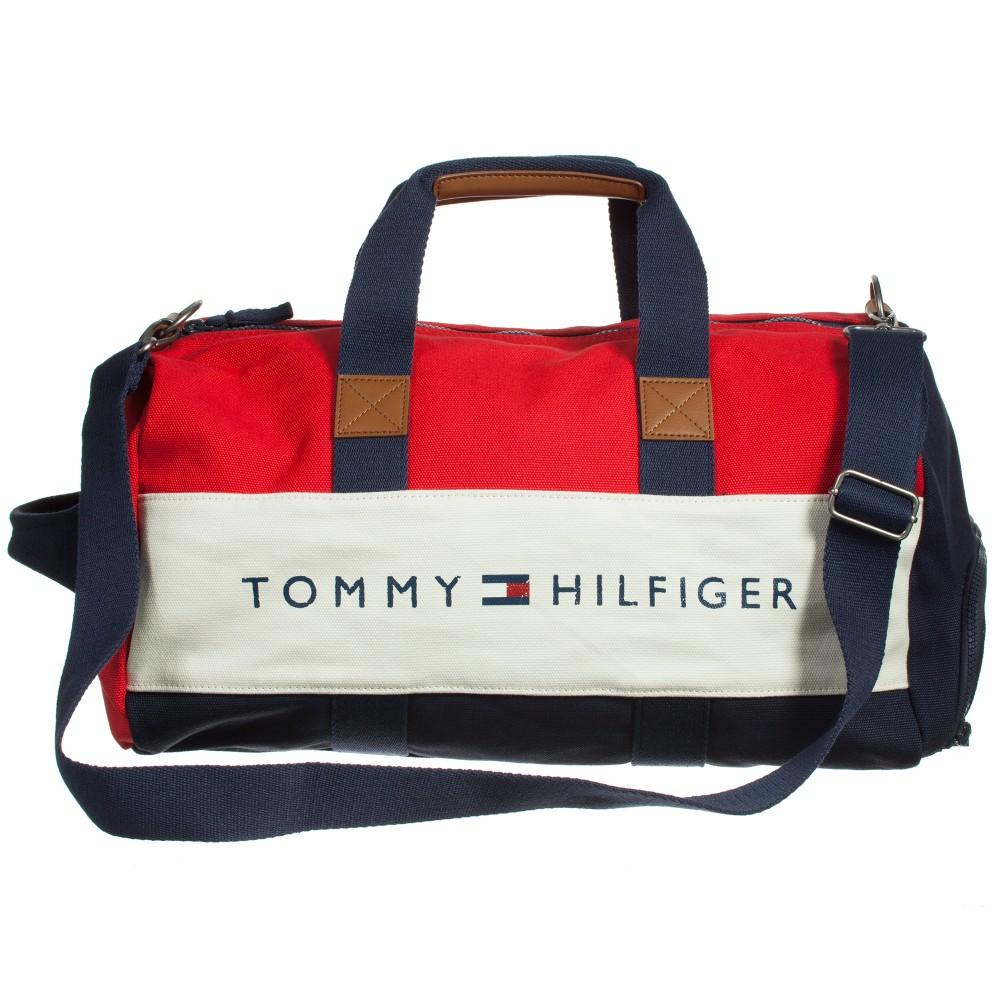 5e33a992da5 Boys Navy Blue & Red Canvas Duffle Bag (47cm)