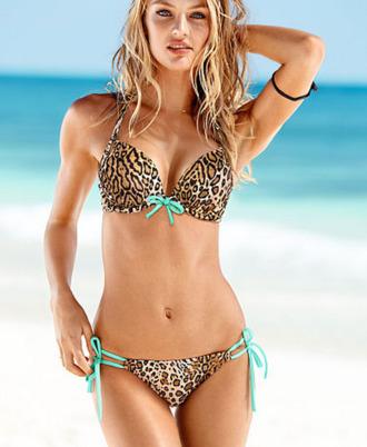 swimwear leopard print beach bikini leopard bikini candice swanepoel victoria's secret