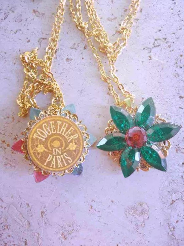 Anastasia Charm Necklace Together In Paris Replica Flower