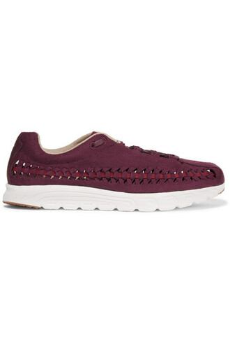 suede sneakers open weave sneakers suede burgundy shoes