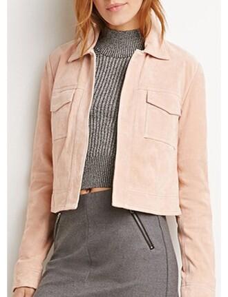 blush pink suede jacket jacket fall jacket