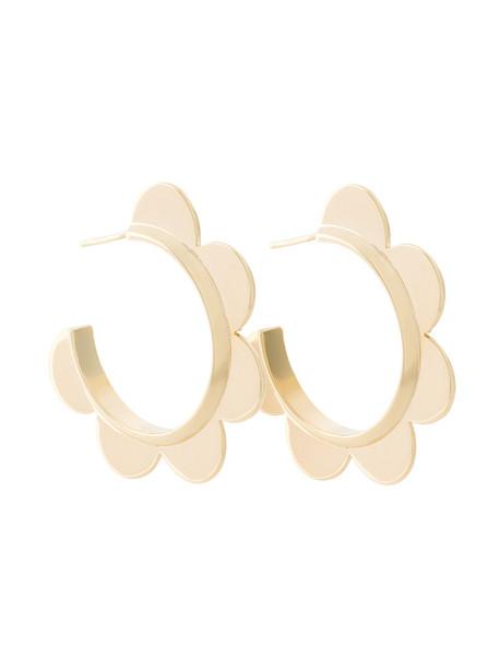 Simone Rocha women scalloped earrings hoop earrings floral grey metallic jewels