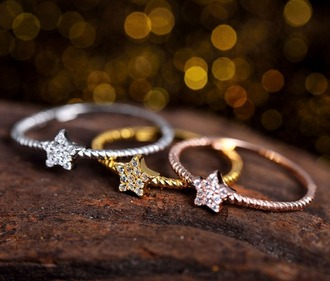 jewels ring stars wood gold rose gold silver grey indie hipster boho boho chic summer spring accessory jewelry hand jewelry jewelry ring gold jewelry cute pretty girly classy classy jewelry beautiful