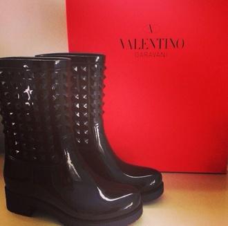 black black boots valentino shoes