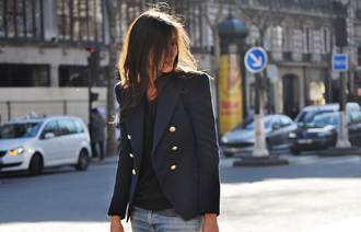 jacket emmanuelle alt blue jacket
