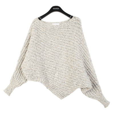 Dolman Sleeved Knit Sweater