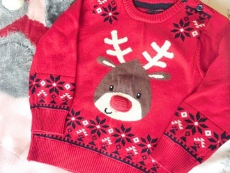 red sweater red sweater christmas sweater reindeer sweater deer ugly christmas sweater