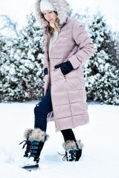 ohsoglam,blogger,coat,sweater,shoes,hat,gloves,beanie,winter coat,winter outfits,winter boots