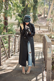 style me grasie,blogger,jeans,gloves,ripped jeans