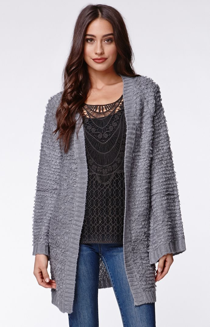 Some days lovin fluffy knit kimono sweater at pacsun.com