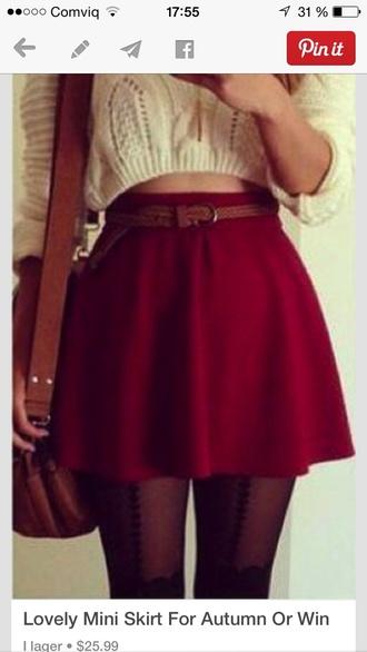 skirt red skirt skater skirt