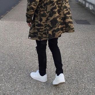 jacket military style bape streetwear