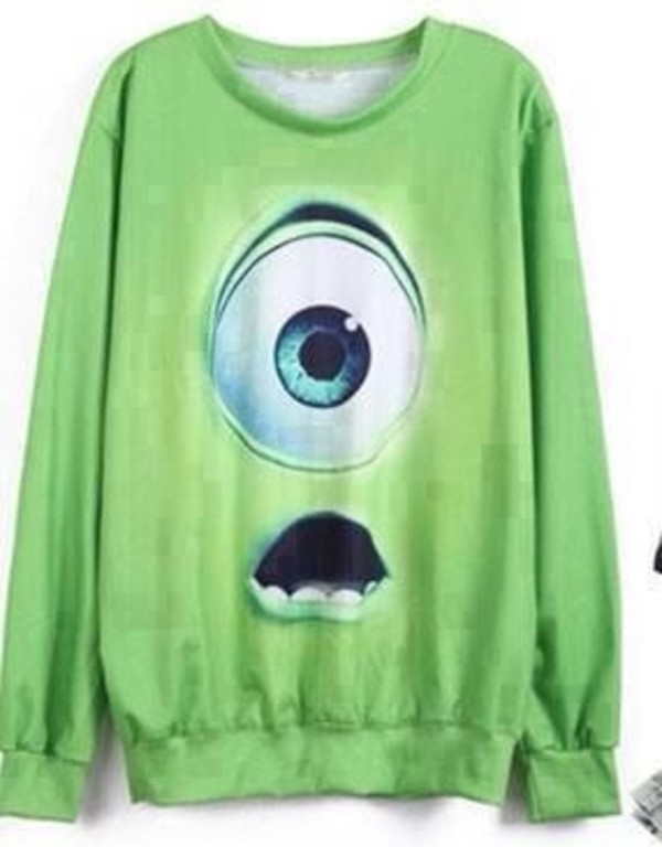 sweater mike wazowski
