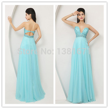 Aliexpress.com : Buy Free Shipping Strapless Silver Beaded Bust Summer Blue Sale Evening Dress 2014 from Reliable beaded sequin dress suppliers on Aojia Top Evening Dress