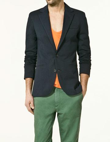 blazer en tissu ponge collection homme nouvelle collection zara france. Black Bedroom Furniture Sets. Home Design Ideas