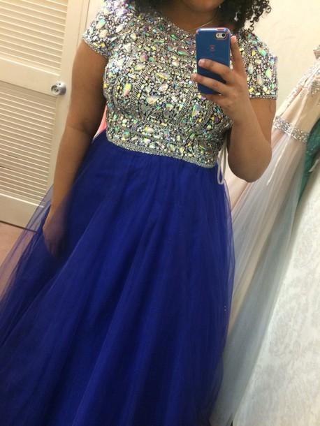 dress prom dress crystal long dress