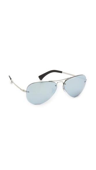 sunglasses aviator sunglasses silver green