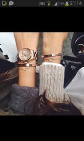 jewels,bracelets,gold,heart,watch,cute,friends,luxury
