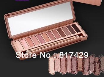 2014 new nake makeup 3 eye shadow palette 12 colors nk3 eyeshadow palettes with brush, dropshipp