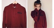 sweater,burgundy,cute,logo,hoodie,unisex,burgundy sweater