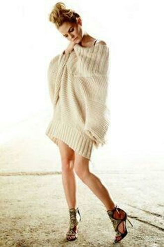 creme ouat emma swan oversized sweater sweater dress knitted dress