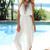 White Jump Suits/Rompers - White Pantsuit with Wide Pant | UsTrendy