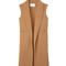Alexander wang oversized wool vest - camel long vest
