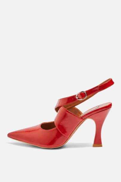 Topshop cross shoes red