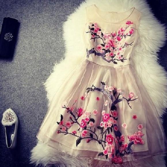 floral bridesmaid cherry blossom dress cocktail dress christmas dress christmas gift