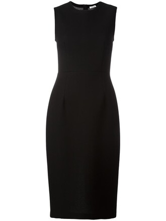 dress women classic black wool