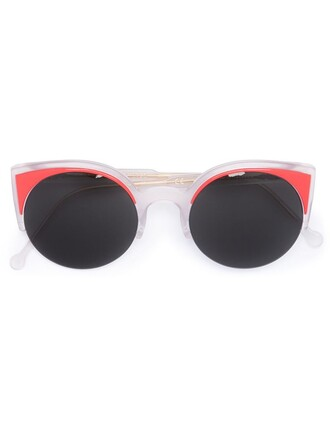 women sunglasses coral red