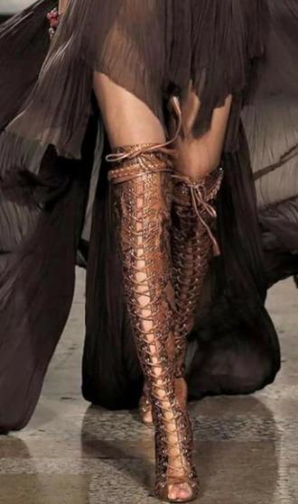 shoes bronzer bronzed boot knee high boots trendingfashion trendy given.dk designer knee high gladiator sandals gladiators gladiator boots boots fashion