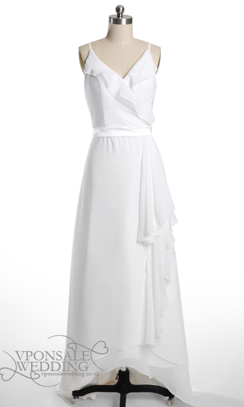High Low White Bridesmaid Dress DVW0100 | VPonsale Wedding Custom Dresses