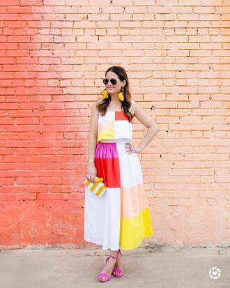 skirt tumblr maxi skirt patchwork matching set two-piece top crop tops sandals sandal heels high heel sandals earrings accent earrings accessories hair accessory bag clutch jewels