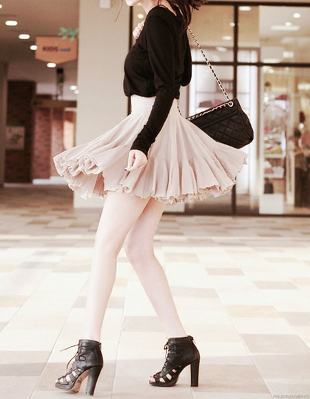 black top dress clothes pastel pink and black dress pastel pink, cute, crop top, shoes, skirt