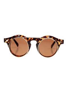 Gafas del sol doble retro con estampado de animal